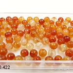 Karneol Mix, Kugel gelocht 4 mm