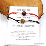 2 Armbänder ONE FOR YOU - ONE FOR ME, Tigerauge gold und rot. SONDERANGEBOT