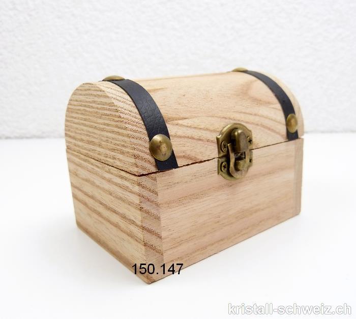 schatzkiste klein pinienholz leer zum selbst bef llen mit geschraubtem metallscharnier die. Black Bedroom Furniture Sets. Home Design Ideas