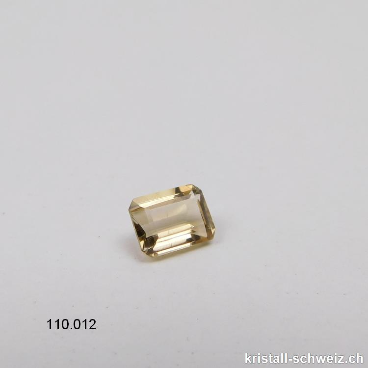 Citrin facettiert oktagon 8 x 6 mm, 1,3 - 1,6 Karat